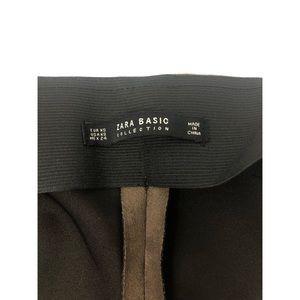Zara Pants - ZARA Basic Brown Faux Leather Legging Pants XS